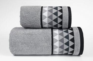 Men way jasny popiel ręcznik bawełniany greno - popielaty