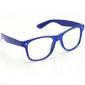 Granatowe okulary zerówki kujonki  nerdy wayfarer