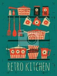 Plakat plakat retro kuchnia