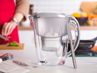 Dzbanek filtrujący wodę z wkładem magnezowym + szpatułka fiskars aquaphor jasper szary b100-25 2,8 l