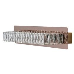 Kinkiet dekoracyjny, prostokątny, różowe złoto, kryształy regenbogen crystal 498024601