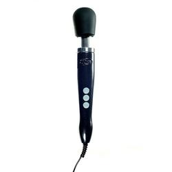 Tytanowo-aluminiowy solidny masażer sieciowy metalowy - doxy die cast wand massager czarny