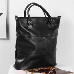 Skórzana torebka dan-a t393 czarna - czarny