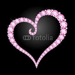 Obraz na płótnie canvas czteroczęściowy tetraptyk Diamentowe serce diamentowe serce