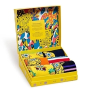 Zestaw giftbox skarpetki happy socks x spongebob 6-pak - xbob10-0100