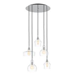 Kaspa - lampa wisząca longis 5, chrom - chrom
