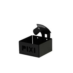 Pojemnik  półeczka pixi - czarna zebra