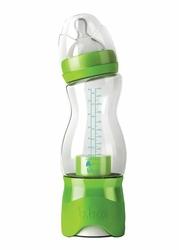 Butelka dla niemowląt z dozownikiem 240 ml, zielona, b.box - Zielony