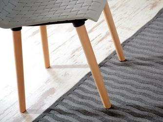 Krzesło z tworzywa erik szare