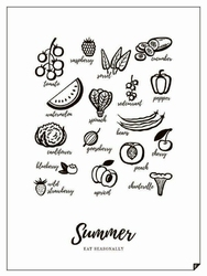 Plakat Summer - Eat Seasonally 30 x 40 cm