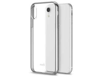 Etui moshi vitros do apple iphone xr jet silver + szkło alogy - srebrny