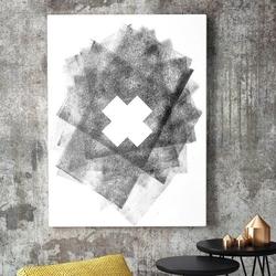 Modny obraz na płótnie - cross design , wymiary - 60cm x 90cm
