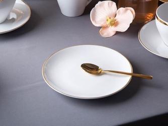 Talerz deserowy porcelana mariapaula moderna gold 16,5 cm okrągły