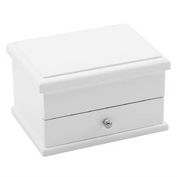 Biała szkatułka drewno urodziny ślub prezent z grawerem