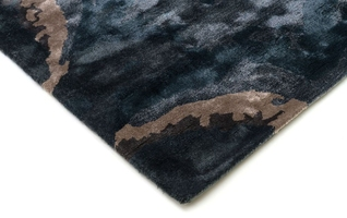 Dywan ręcznie wykonany escape blue 160x230 cm