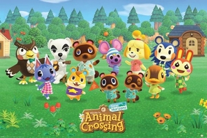 Animal crossing lineup - plakat