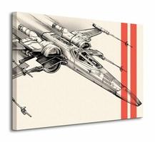 Star Wars Episode VII X-Wing Pencil Art - obraz na płótnie