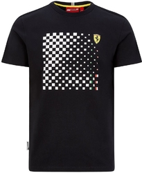 Koszulka scuderia ferrari f1 checkered graphic czarna - czarny