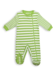 Pajacyk dla dziecka - zielone paseczki 6-12 m