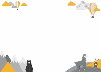 Tablica suchościeralna dla dzieci alpaka miś 377