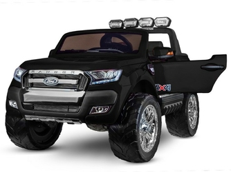 Ford ranger 4x4 facelift czarny  dwuosobowe auto dla dzieci