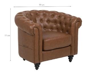 Fotel santoz skóra ekologiczna brązowy
