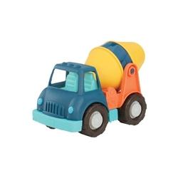 Niebieska betoniarka duży pojazd