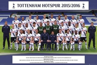 Tottenham hotspur drużyna 1516 - plakat