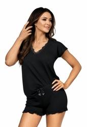 Donna agnes 12 czarna piżama damska
