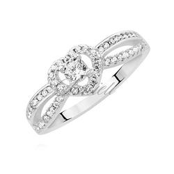 Srebrny pierścionek pr.925 serduszko z białą cyrkonią - biała