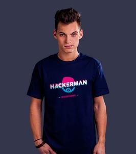 H4ckerman t-shirt męski granatowy xxl