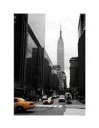 Empire state building, manhattan, new york - reprodukcja