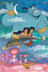 Aladdin a whole new world - plakat