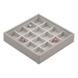 Pudełko na charmsy 16 komorowe Stackers taupe
