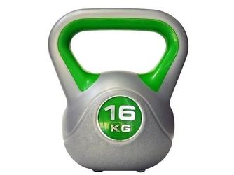 Hantla winylowa bitumiczna kettlebell 16 kg - marbo sport - 16 kg