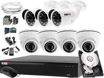 Zestaw do monitoringu: rejestrator lv-xvr84se-ii 7 kamer lv-al30htw-s lv-al25hdw-s 1tb