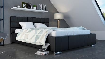 Łóżko nowoczesne tapicerowane tkaniną - duży wybór tkanin - 140 x 200 cm - bed 2