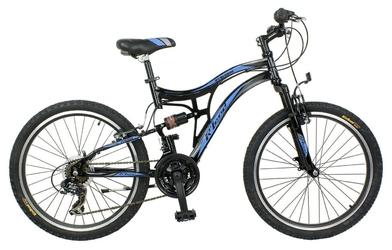 Rower r-land mtb 24 merano ii amortyzator, v-brake, czarno-niebieski