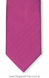 Krawat jedwabny w kolorze fuksji