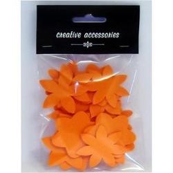 Kwiaty z pianki 48mm 24 szt. - pomarańczowe - pom