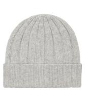 Ciepła jasnoszara zimowa czapka