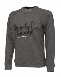 Sweter savage gear sweater melange grey m