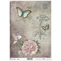 Papier ryżowy ITD A4 R1065 kwiaty
