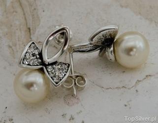 Brabantia 2 - srebrne kolczyki z perłami