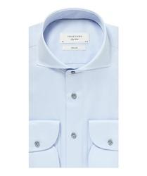 Elegancka gładka błękitna koszula sky blue profuomo 42