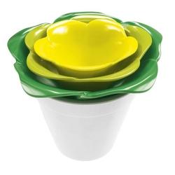 Zestaw misek z pojemnikiem biało-zielono-żółty rose zak designs