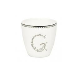 Kubek mini latte g silver green gate