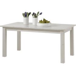 Biały romantyczny rozkładany stół monaco