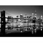 Brooklyn Bridge BW - reprodukcja