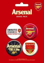 Arsenal Godło - zestaw 4 przypinek